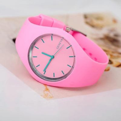 Geneva Super Soft Unisex Jelly Silicone Sports Watch