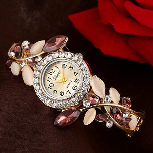 Classic Ladies Watch With Colorful Crystals