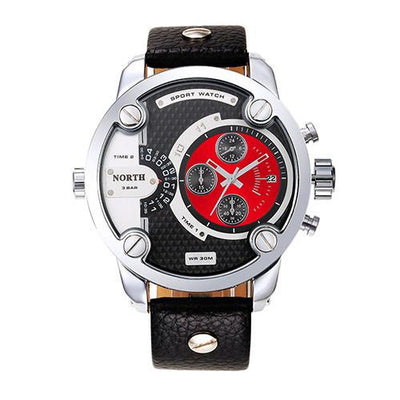 Stainless Steel & Genuine Leather Analog Men's Watch - MM Watch 4U Store | Quality & Style