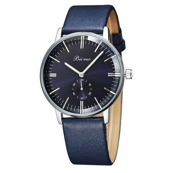 Beinuo Fashion Luxury Brand Men's Business Leather Strap Watch With Small Dial - MM Watch 4U Store | Quality & Style