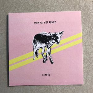 John Calvin Abney - Coyote Sticker - Black Mesa Records