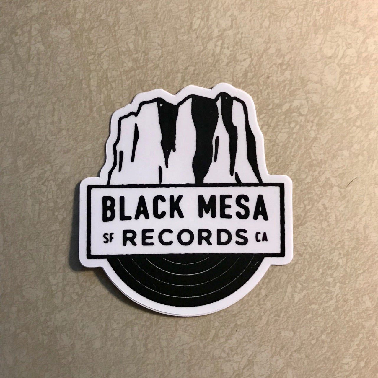 "Black Mesa Records - Black Mesa ""SF CA"" Logo Sticker - Black Mesa Records"