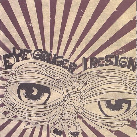 "Komarov Records - Eye Gouger/I Resign 7"" Split (Random) - Black Mesa Records"