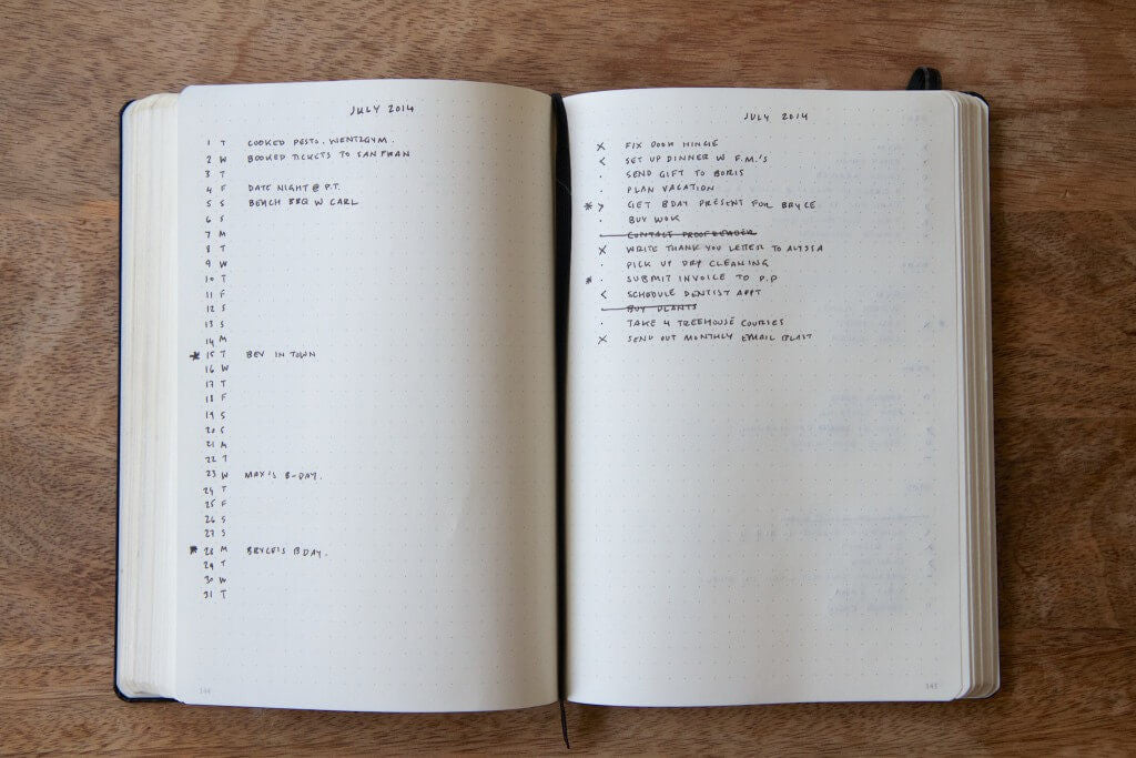 Simple bullet journal monthly spread | step by step guide to starting a bullet journal