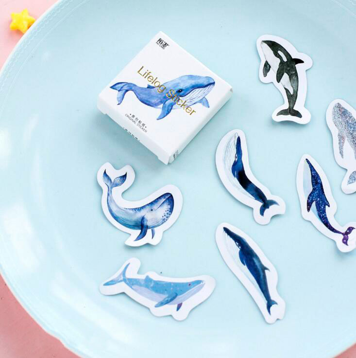 The Whale Collection Stickers - 45pcs/pack
