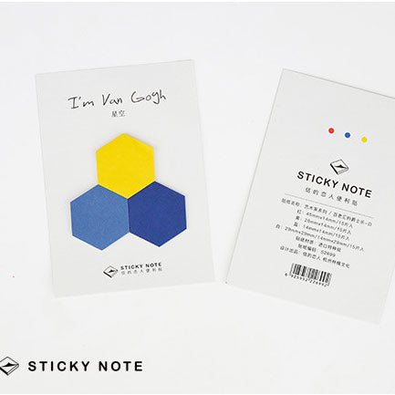 Starry Sky palette - Geometric Sticky Notes