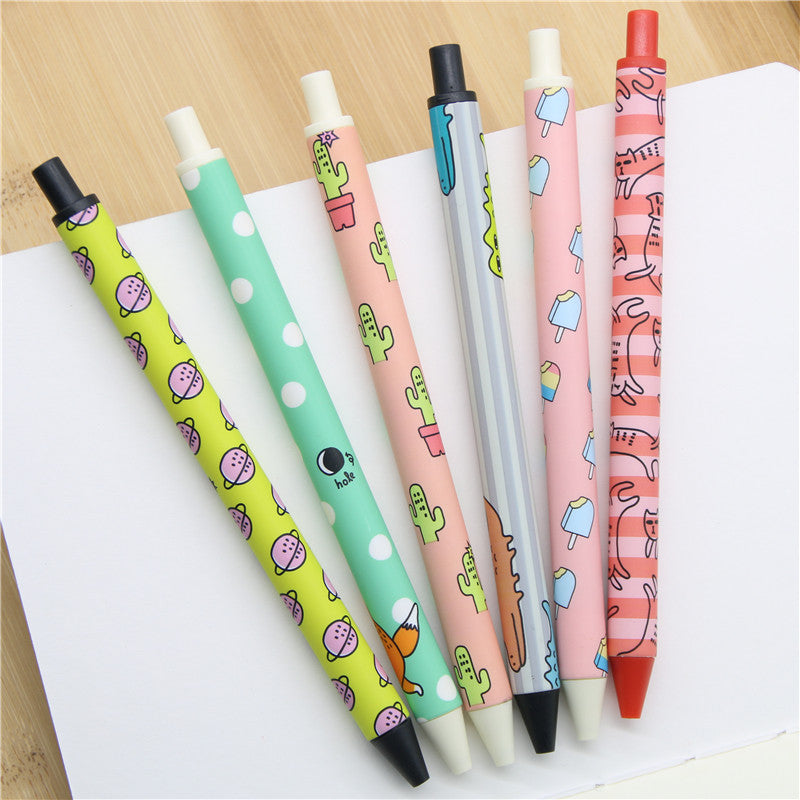 Kawaii Korean Funky Pens - Pack of 6