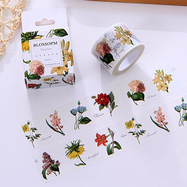 retro vintage floral washi tape for scrapbooking