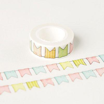 Colorful Flags Decorative Washi Tape