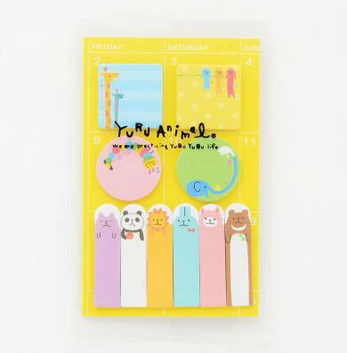 Animals Party Schedule Marker Memo Pad