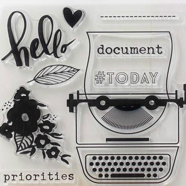 journal planning transparent stamp
