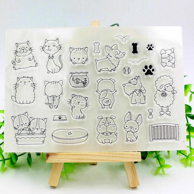 Transparent silicone stamp for journalling , scrapbooking