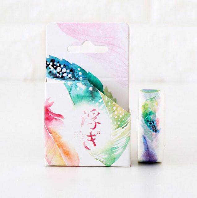 Washi Tape | watercolor feather motif