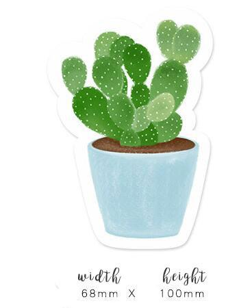 cactus sticky notes, post it notes, memo pad