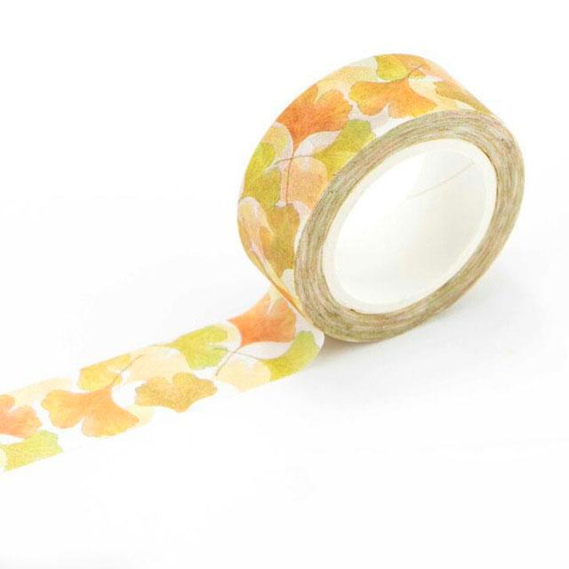 Ginkgo Fall Leaves Washi Tape