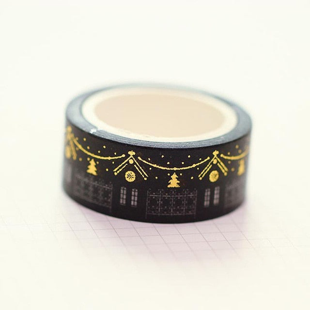 Stunning Gold/Silver Illustration Washi Tape Collection