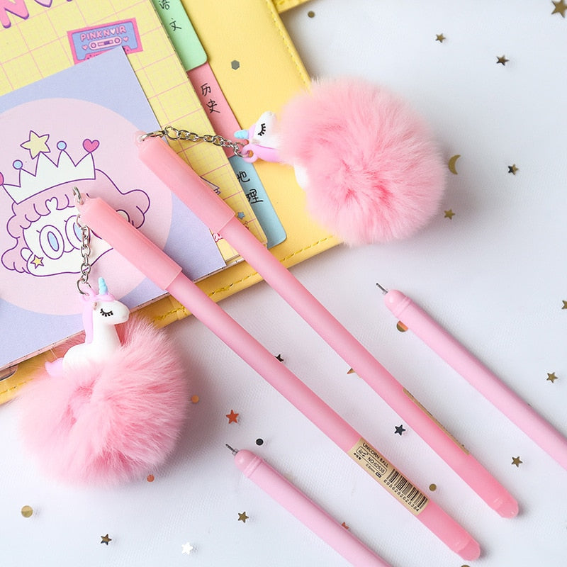 Cute Pink Unicorn Gel Pen