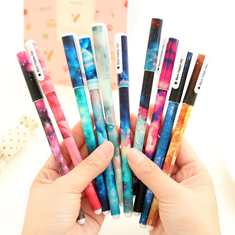 gel ink galaxy pens stationery