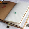 Vintage Portable passport sized Self customisable Midori Style Leather Traveller Notebook