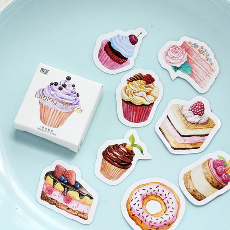 Whimsical Cakes and Desserts Stickers - for scrapbook, journal, planner | 45 pcs / pack