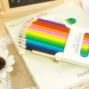 Multi-colour Wooden Standard Color Pencil Set (12 pcs/set)