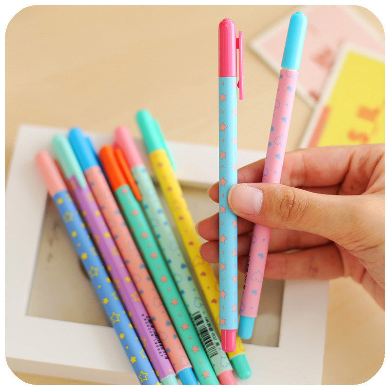 Hearts And Stars Gel Ink Pen - 8 pcs pack