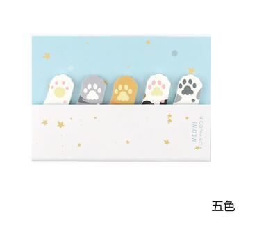 Cute Cat Paw Sticky Note Pad