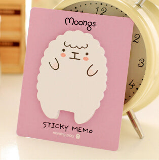 Moongs Character Sheep and Panda Huge Sticky Notes | Memo pads