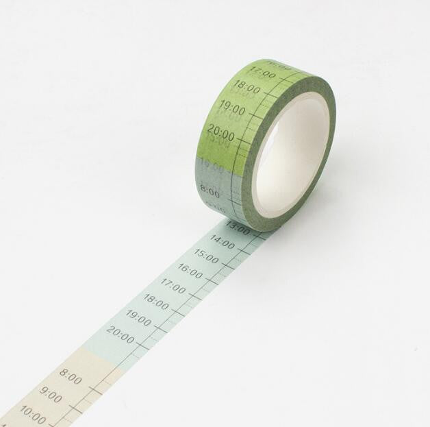 u - High Quality Time & Date Washi Tape Collection