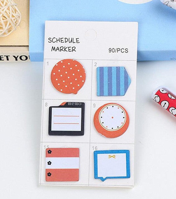 Self-Adhesive Schedule Marker / Sticky Notes