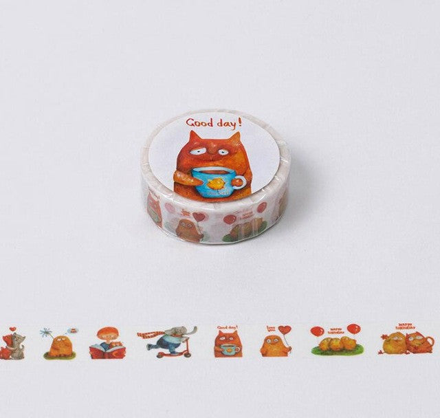 Various Decorative Washi Tape Collection - Beautiful Day, Sunny Day, Tree of Hope