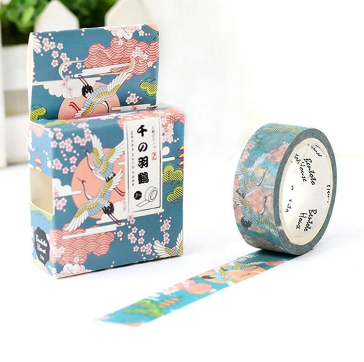 Oriental Flying Crane Decorative Washi Tape