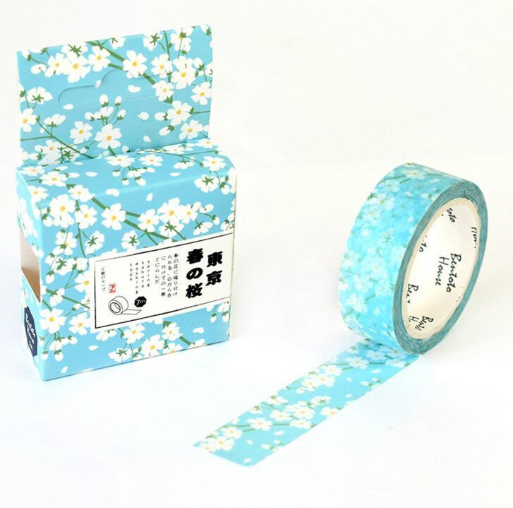 Baby Blue Spring Bloom Washi Tape