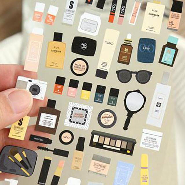 fashionista make up stickers for bullet journal
