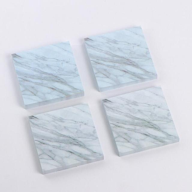 Marble and Stone Texture Self-Adhesive Memo Pad / Sticky Notes