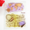 world map transparent stamp for travel notebooks
