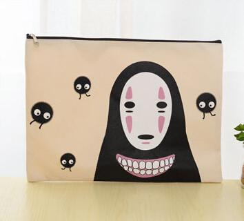 No Face Man Anime Character - Document Bag
