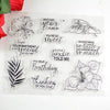 Special Phrase and Floral Leaves Transparent Stamps