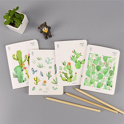 Cactus themed A6-size Mini Notebook for Traveller's Journal