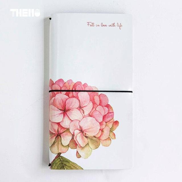 Creative Big Floral Pattern PU Leather Cover Fauxdori Traveller's Journal