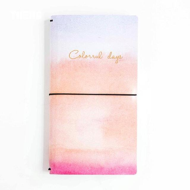 Creative Colorful Day PU Leather Cover Fauxdori Traveller's Journal