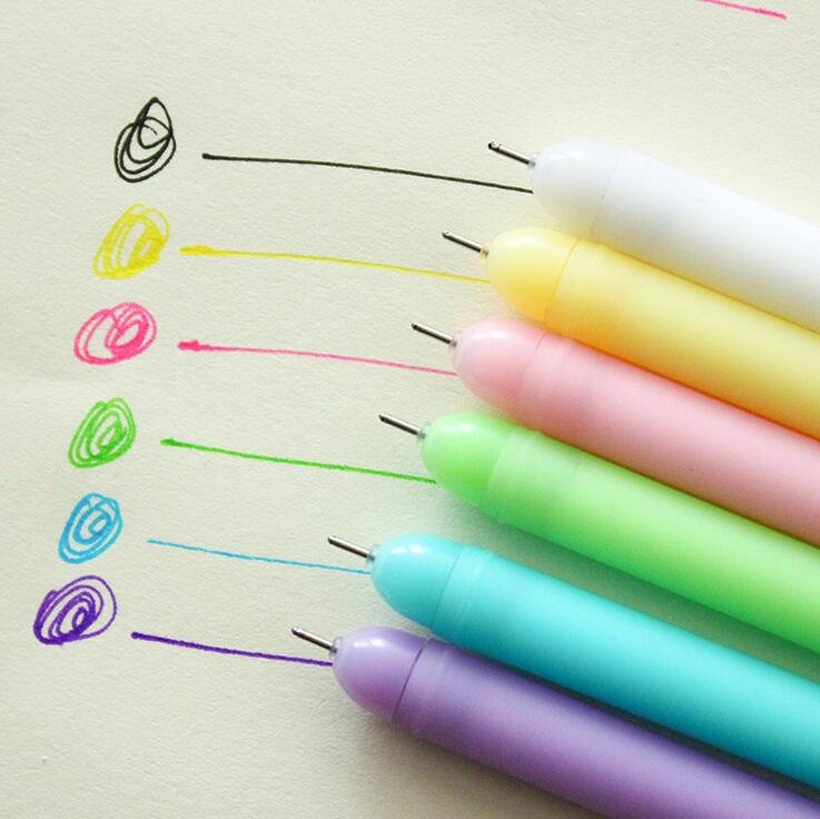 Rainbow Candy Color Gel Ink Pen collection (6 pens/pack)