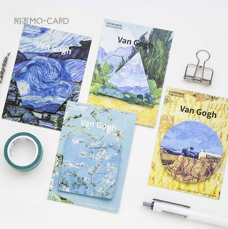 The Color Of Van Gogh Self-Adhesive N Times Memo Pad Sticky Notes Post It Bookmark School Office Supply