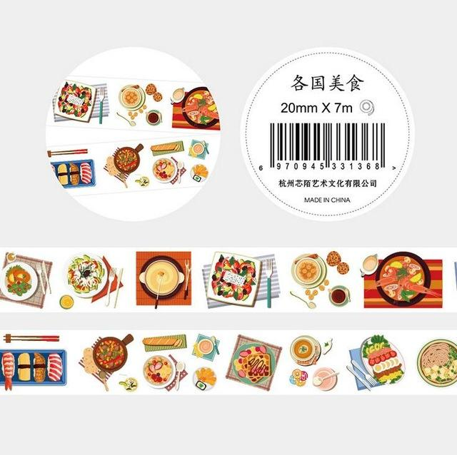 Fresh Art, Food And Life Washi Tape Collection