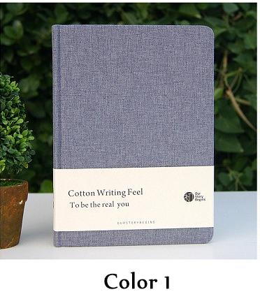 Korean Cotton Cover Gray Series A5 Notebook Journal