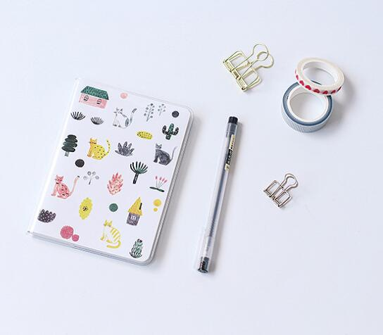 Simple, Minimalist A6 Size Notebook (Comes with PVC cover)