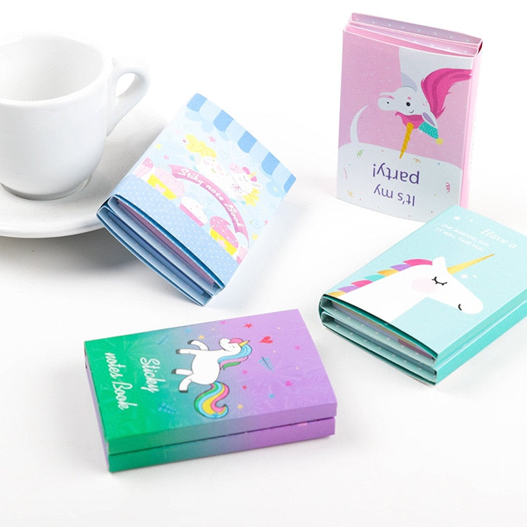 Cute Unicorn Theme Foldable sticky notes memo pad