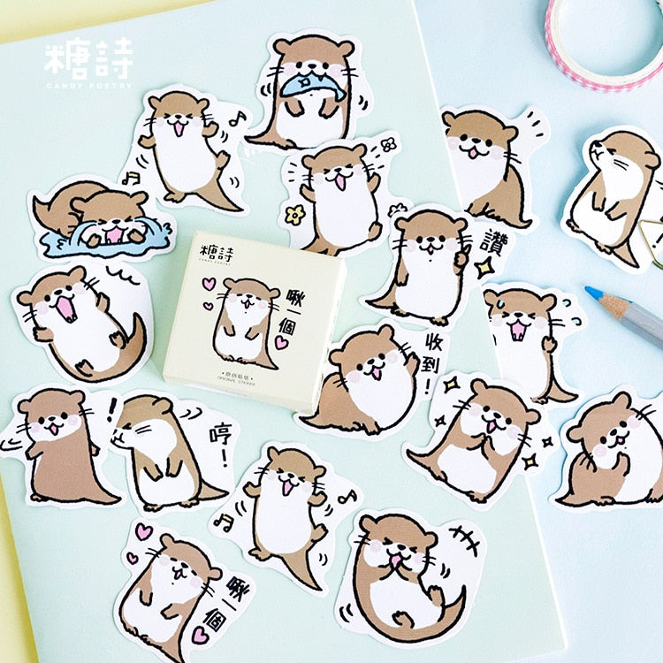 2019 Cute Otter Decorative Stickers for Bullet Journal