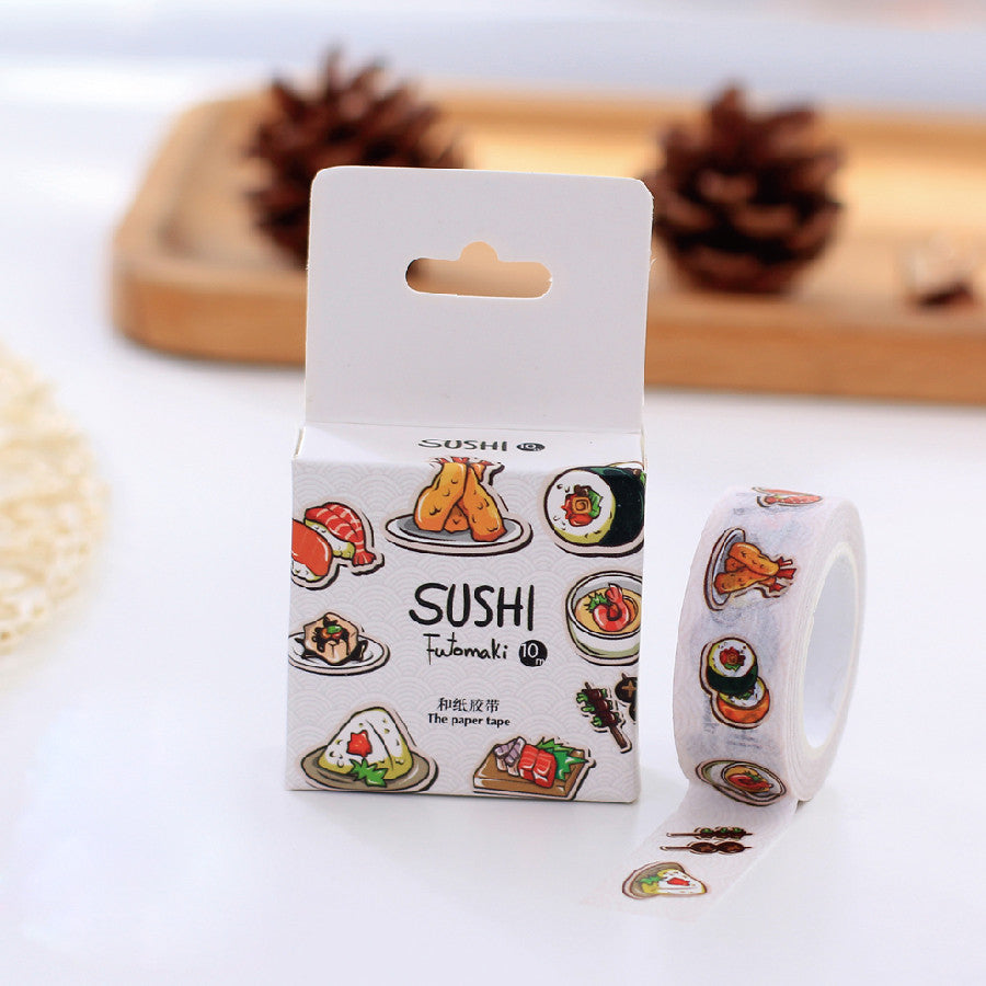 Washi Tape Japanese sushi futomaki