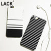 Trendy & Fashion Black/Blue and White Stripes Phone Cases for Iphone 5 and Iphone 6
